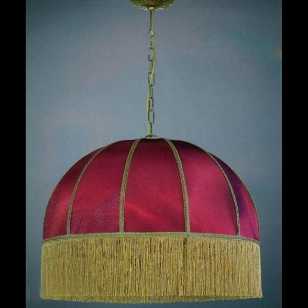 Люстра подвесная LA LAMPADA L 389/8.26 BORDO SHADE