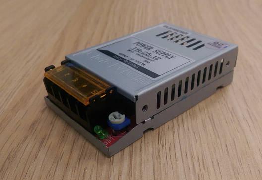Блок питания перфорированный 12V 2,1А 25W для led ленты
