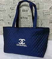 Стеганая женская сумка Chanel тканевая, фото 1