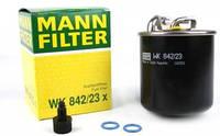 MANN-FILTER WK 842/23 X Фильтр топливный MB Sprinter 2.2-3.0CDI (+отв. датчика воды)
