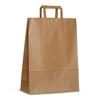 Крафт-пакет 32x13x42,5 коричневый с плоскими ручками