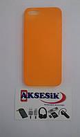Задняя накладка APPLE iPhone 5/5S 0,35 mm (оранжевая)