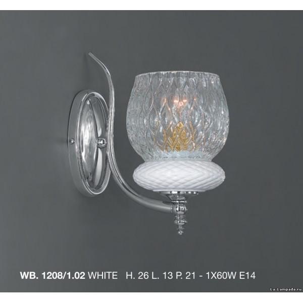 Бра LA LAMPADA WB 1208/1.02 CERAMIC WHITE