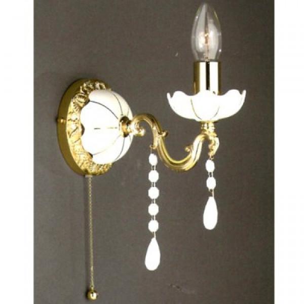 Бра LA LAMPADA WB 372/1.26 CERAMICA GOLD-WHITE DROPS