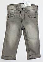 Детские утепленные джинсы с подкладкой для мальчика р.74/80