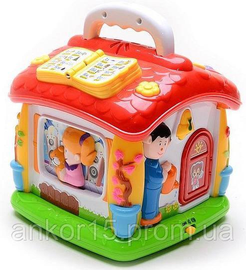 Говорящий домик развивающая игрушка для малышей. Joy Toy 9149