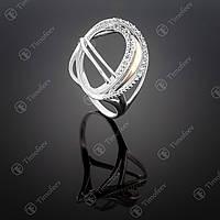 Серебряное кольцо с фианитами. Артикул П-355
