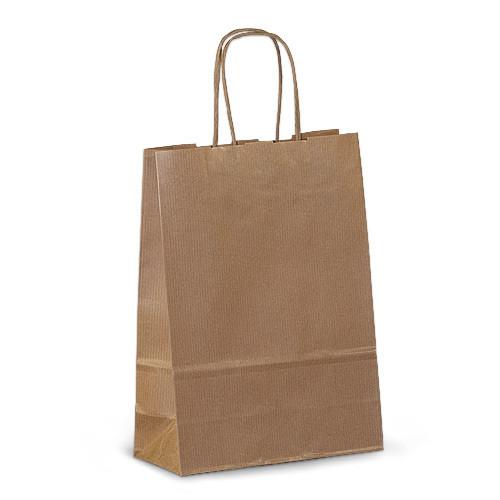 Крафт-пакет 18х08х25 коричневый с витыми ручками