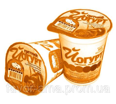 Йогурт питьевой нежирный АМА персик 0,05%, фото 2