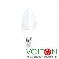 Светодиодная LED лампа E14, 220V 6W 3000K, фото 1