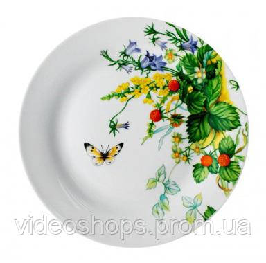 """Фарфоровая тарелка """"Лесная поляна"""" Ø20.5см мелкая"""