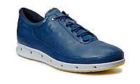 Мужские кроссовки Еcco 02 leather blue