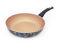 """Cковорода с антипригарным керамическим покрытием 28х6.5см и индукционным дном Fissman """"Colore"""" (AL-4696.28)"""