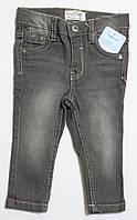 Детские весенние джинсы для мальчика серые р.74/80