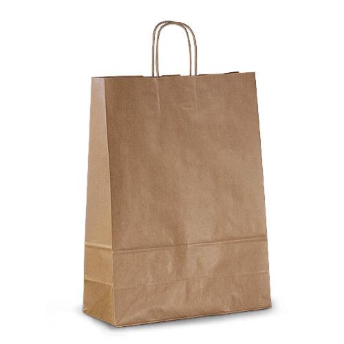 Крафт-пакет 32х13х42,5 коричневый с витыми ручками