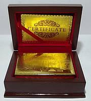Карты игральные в сундучке, золотые 100 евро