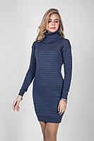 Изумительное теплое вязаное платье из полушерстяной пряжи