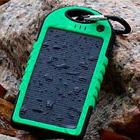 Solar Charger ES500 Power Bank 5000 mAh black-green