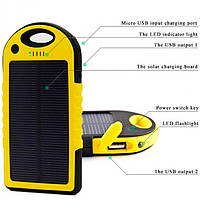 Solar Charger ES500 Power Bank 5000 mAh black-yellow