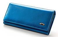 Женский кожаный кошелек ST лаковый, фото 1