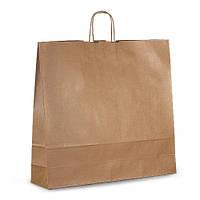 Крафт-пакет 54х14х50 коричневый с витыми ручками