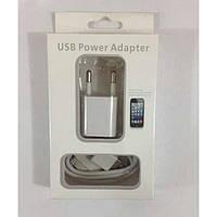 Сетевое зарядное устройство+кабель для iPhone 3G/GS 2 в 1