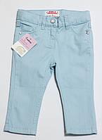 Детские летние джинсы для девочки голубые р.74/80