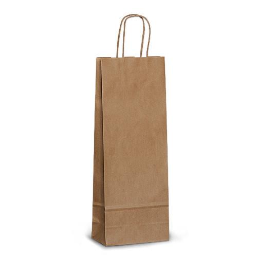 Пакет 15x08x40 коричневый под бутылку для вина