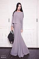 Платье женское, пепельно-бежевое, мультисезон  P-LETUAL 1-2