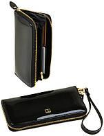 Женский кожаный кошелек клатч BRETTON на молнии лаковый, фото 1