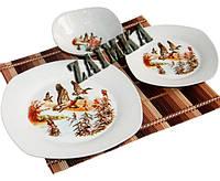 Набор посуды Утки (13 предметов на 6 персон).