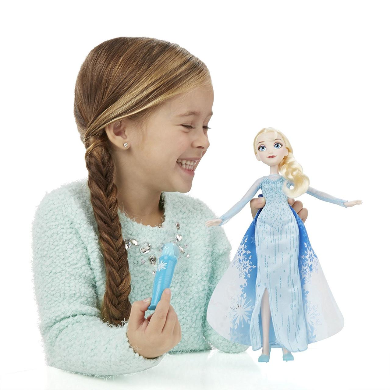 Кукла Эльза Холодное Сердце в наряде с проявляющимся рисунком
