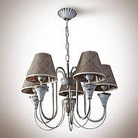 Люстра для зала, спальни, прихожей, 5-ти ламповая 14405-7