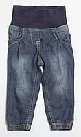 Детские утепленные джинсы с подкладкой для девочки р.74/80