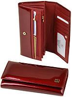Женский кожаный кошелек BRETTON лаковый, фото 1