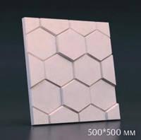 """3D панель """"Шестигранник"""" (125)"""