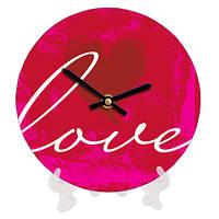 Круглые настольные часы с принтом Любовь 18 см