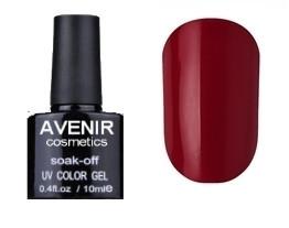 Гель-лак AVENIR Cosmetics №66. Бордово-червоний 10 мл.