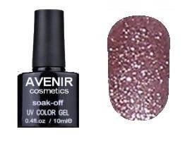 Гель-лак AVENIR Cosmetics №153. Кофейно-розовая голография 10 мл.