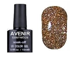 Гель-лак AVENIR Cosmetics №178. Золотые кристаллы 10 мл.