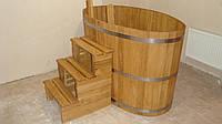 Купель дубовая овальной формы для бани