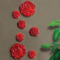 """3D панель """"Розы"""" (189) большая"""