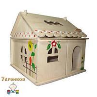 Кукольный домик 1этаж с росписью Hega