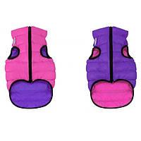 Курточка двухсторонняя для собак AiryVest, размер XS 25, розово-фиолетовая