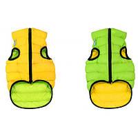 Курточка двухсторонняя для собак AiryVest, размер XS 25, салатово-желтая