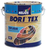 Антисептик с лаком Helios Bori Tex TopLasur 0,75л (Эбеновое дерево) - Лак с морилкой, цветной лак (Бори Текс)