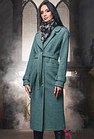 Женское пальто осень весна   PL-8653 нефрит 42-48 размеры