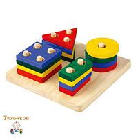 Сортер с геометрическими фигурами Plan Toys
