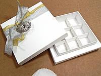Коробка подарочная 13,5см х 13,5см х 3,5см, Белый