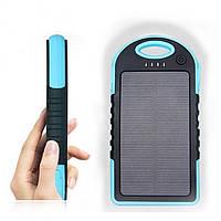 Solar Charger Power Bank 12000 mAh черно-голубой